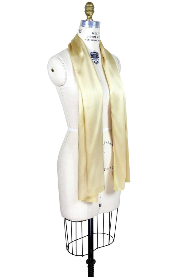 Deco Essential - 1930's Gatsby Vintage Style Tuxedo 100% Silk Scarf - The Deco Haus