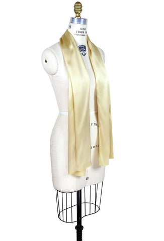 The Tuxedo Vintage Silk Satin Art Deco Shawl - Gold - The Deco Haus