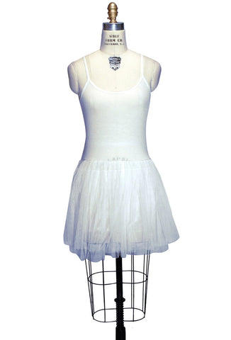 Tulle Ballerina Slip Dress - Ivory - The Deco Haus