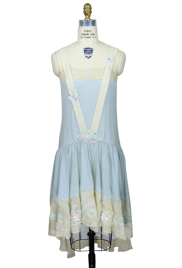 The Les Fleurs Vintage French 1920's Romance Chiffon Gown - The Deco Haus
