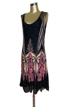 1920s Style Dresses, 20s Dresses LIMITED EDITION 1920S LUXURY VINTAGE GATSBY BEADED PARTY DRESS - THE CHANTILLY - BLACK $649.95 AT vintagedancer.com