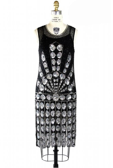 1920s Gatsby Beaded Carwash Party Dress - The Paramount - The Deco Haus