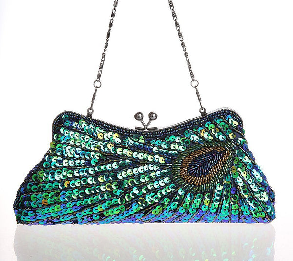 The Deco Haus Tagged Blue: 1930's Inspired Art Deco Beaded Evening Purse