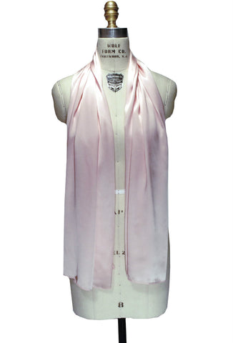 The Tuxedo Silk Satin Art Deco Shawl - Rose Pink