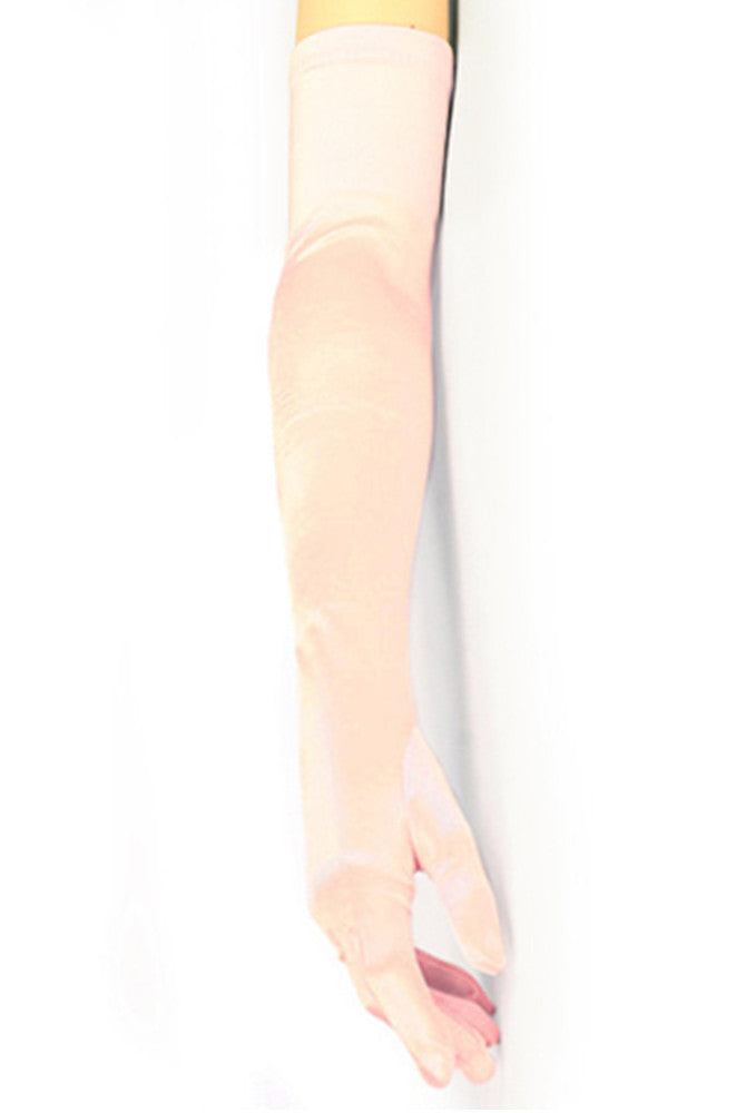 Vintage Style Satin Long Opera Evening Glove - Light Pink - The Deco Haus