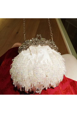 Romantic Crystal Strand Vintage-Inspired Gatsby Wedding Purse