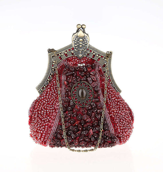 Glamour Gowns Tagged Size S The Deco Haus: 1920's Inspired Gatsby Beaded Teardrop Evening Purse