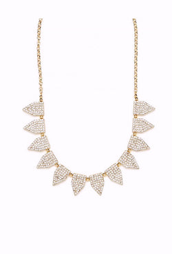 The Art Deco Statement Vintage Crystal Necklace - Bronze