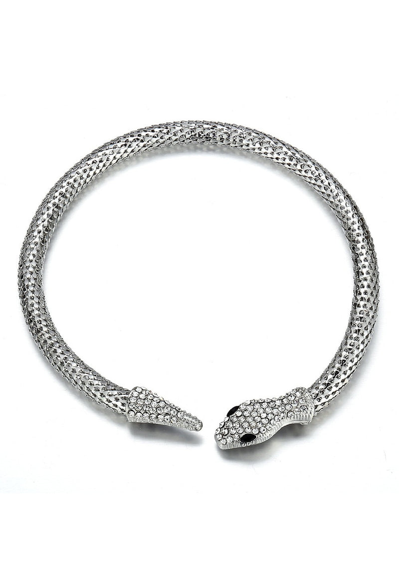 The Silver Mesh Theda Bara Art Deco Egyptian Snake Necklace