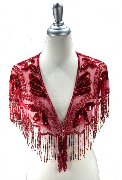 The Zelda 1920's Flapper Capelet - Ruby Red