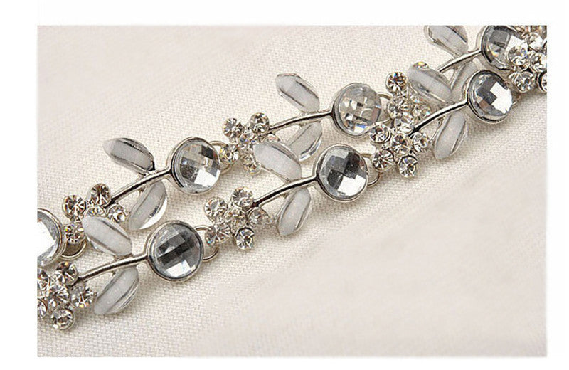 Diamante Vintage Style 1920's Flapper Headband - The Victoria Bouquet - The Deco Haus