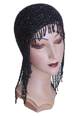 The Jazz Baby Flapper Cap - Black