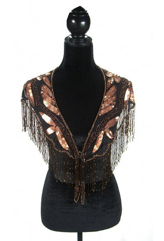 The Zelda Capelet - Copper on Jet