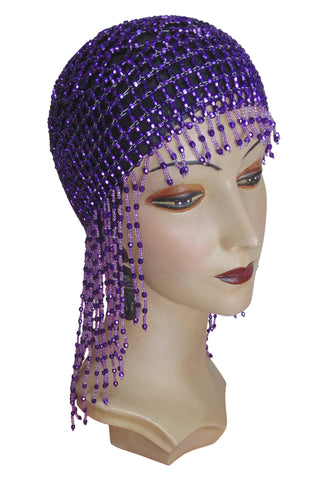 The Jazz Baby Flapper Cap - Royal Purple