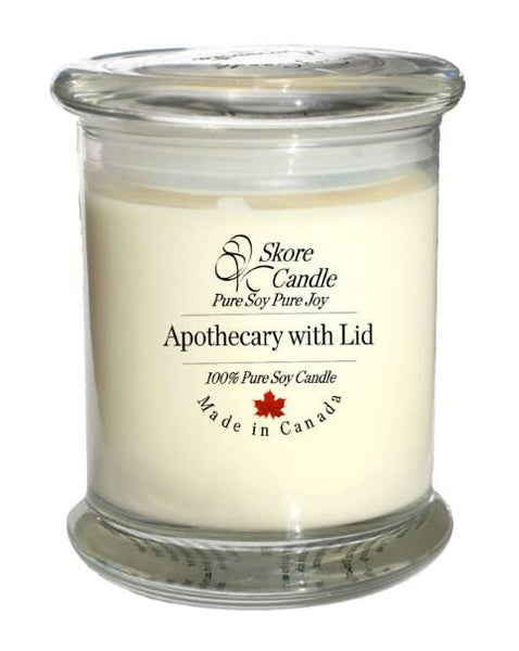 Save 30% - Three Apothecary Candles with Lids 12oz - Skore Candle