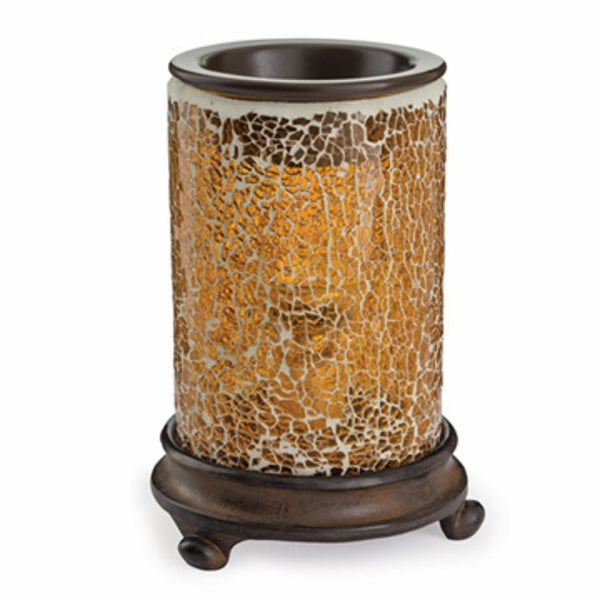 Crackled Amber Glass Soy Melt Warmer - Skore Candle