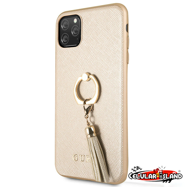 CASE GUESS RING STAND GOLD PARA IPHONE 11