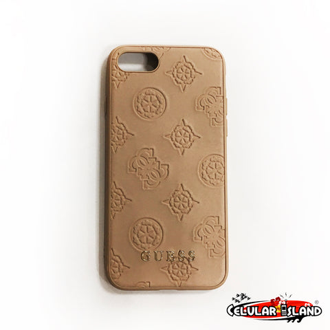 FUNDA GUESS PEONY GOLD PARA IPHONE 8