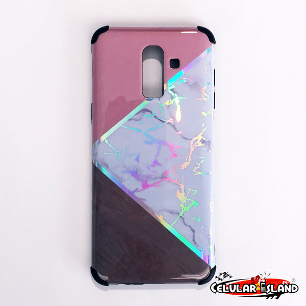 MARBLE CASE CON DISEÑO TRIANGULAR GALAXY J8 2018/A6 PLUS