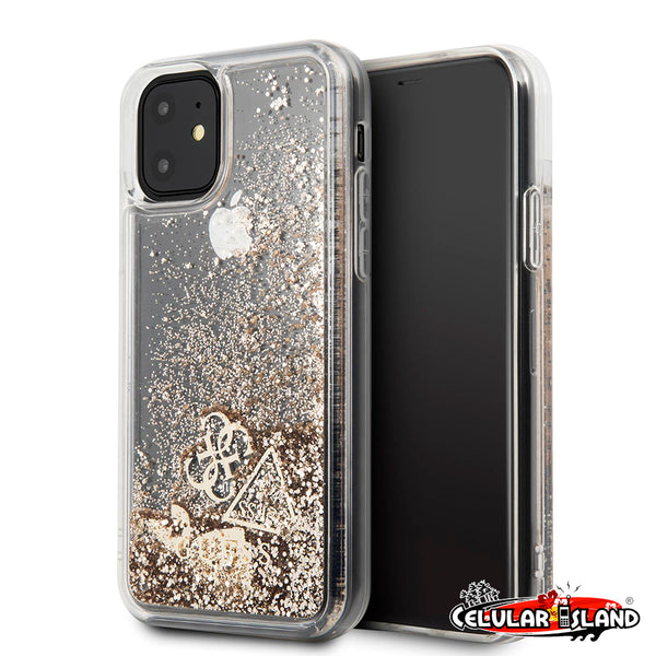 CASE LIQUID GUESS GOLD PARA IPHONE 11 PRO MAX