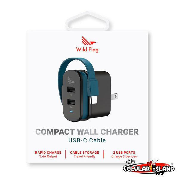 COMPACT WALL CHARGER USB-C CABLE WILD FLAG