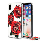PROTECTOR GUESS FLOWER DESIRE ROJO IPHONE XS y X