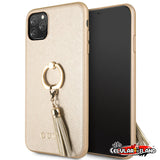 CASE GUESS RING STAND GOLD PARA IPHONE 11 PRO MAX