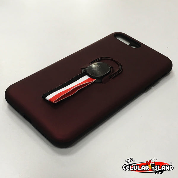 CASE STAND CON GLASS PARA IPHONE 7 PLUS Y 8 PLUS