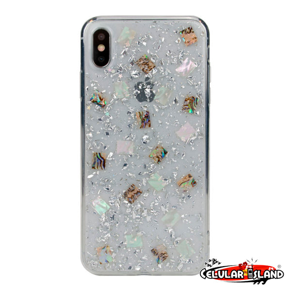 FUNDA WILD FLAG PARA IPHONE XR y XS MAX DESIGN MOTHER OF PEARL
