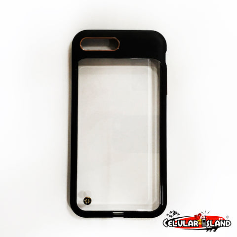 CASE GRANITE TRANSPARENTE CON NEGRO PARA IPHONE 7 PLUS