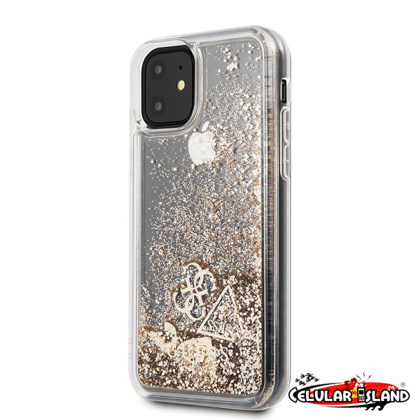 CASE LIQUID GUESS GOLD PARA IPHONE 11 PRO