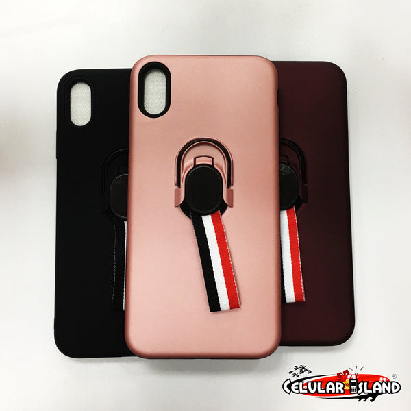 CASE STAND CON GLASS PARA IPHONE XS MAX