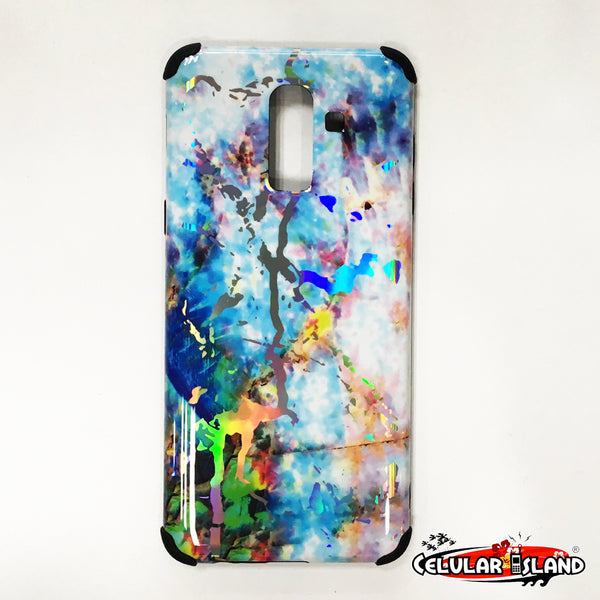 MARBLE CASE AZUL CELESTE GALAXY J8 2018/A6 PLUS