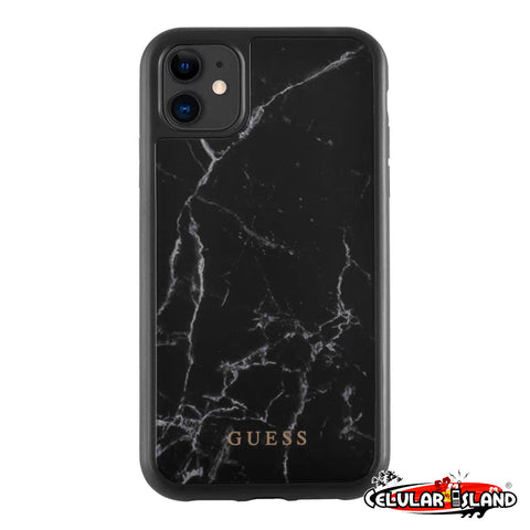 PROTECTOR GUESS MARBLE NEGRO PARA IPHONE 11