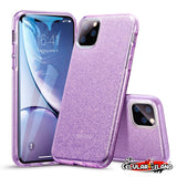 CASE MAKEUP GLITTER PURPLE PARA IPHONE 11 Pro y 11 Pro Max