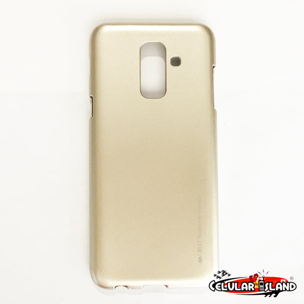 FUNDA JELLY METAL DORADA PARA SAMSUNG GALAXY A6 PLUS y J8 2018