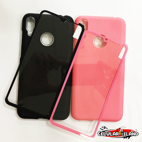 FUNDA LISA CON GLASS PARA HUAWEI Y7 2019