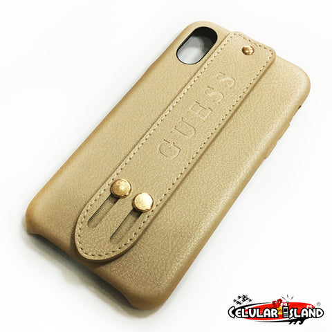 CASE GUESS STRAP GOLD PARA IPHONE X, XS, 7, 8, 7 PLUS, 8 PLUS