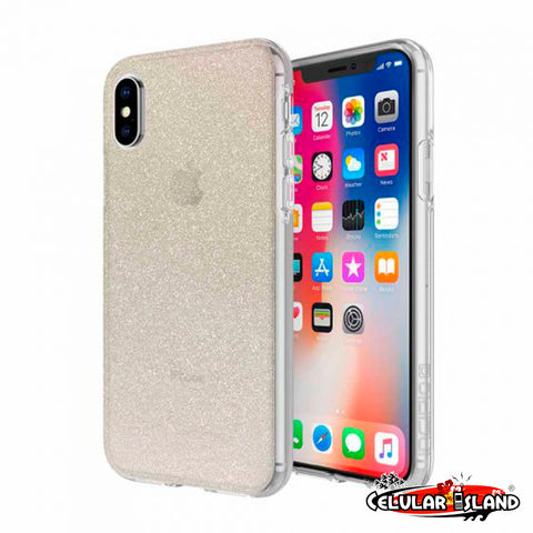FUNDA DESIGN SERIES CON BRILLOS PARA IPHONE X