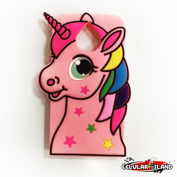 FUNDA DE LATEX UNICORNIO PARA MOTO E4 PLUS