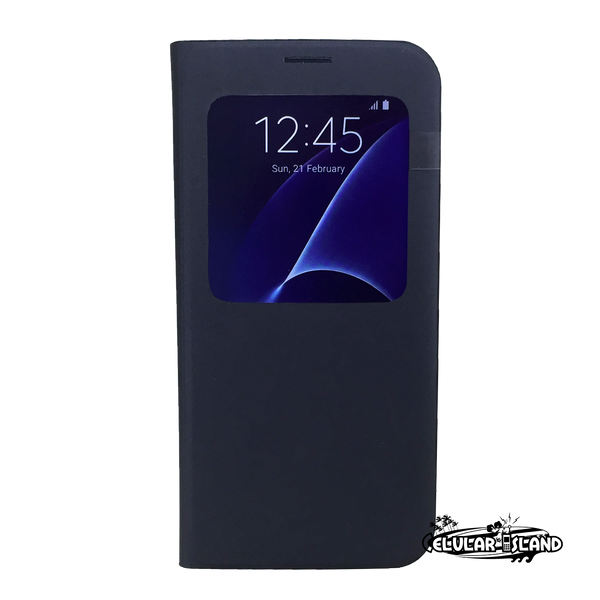 Funda SAMSUNG S7 Edge Flip S-View Cover ORIGINAL