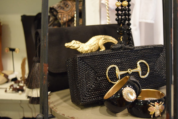 Black Alligator Clutch