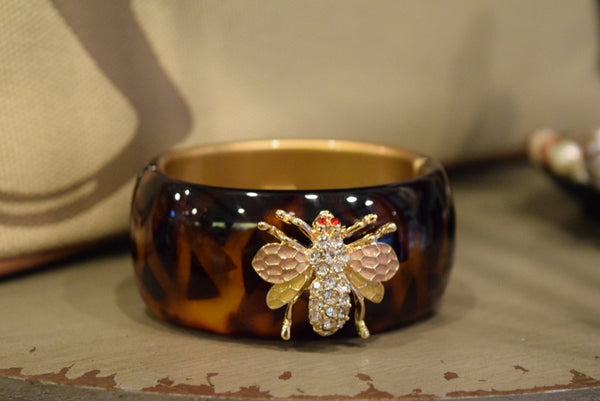 Rhinestone Wasp Enable Bangle