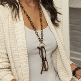 Tortoise Bamboo Necklace & Eyeglass Catcher