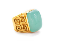 Greek Key Cocktail Ring