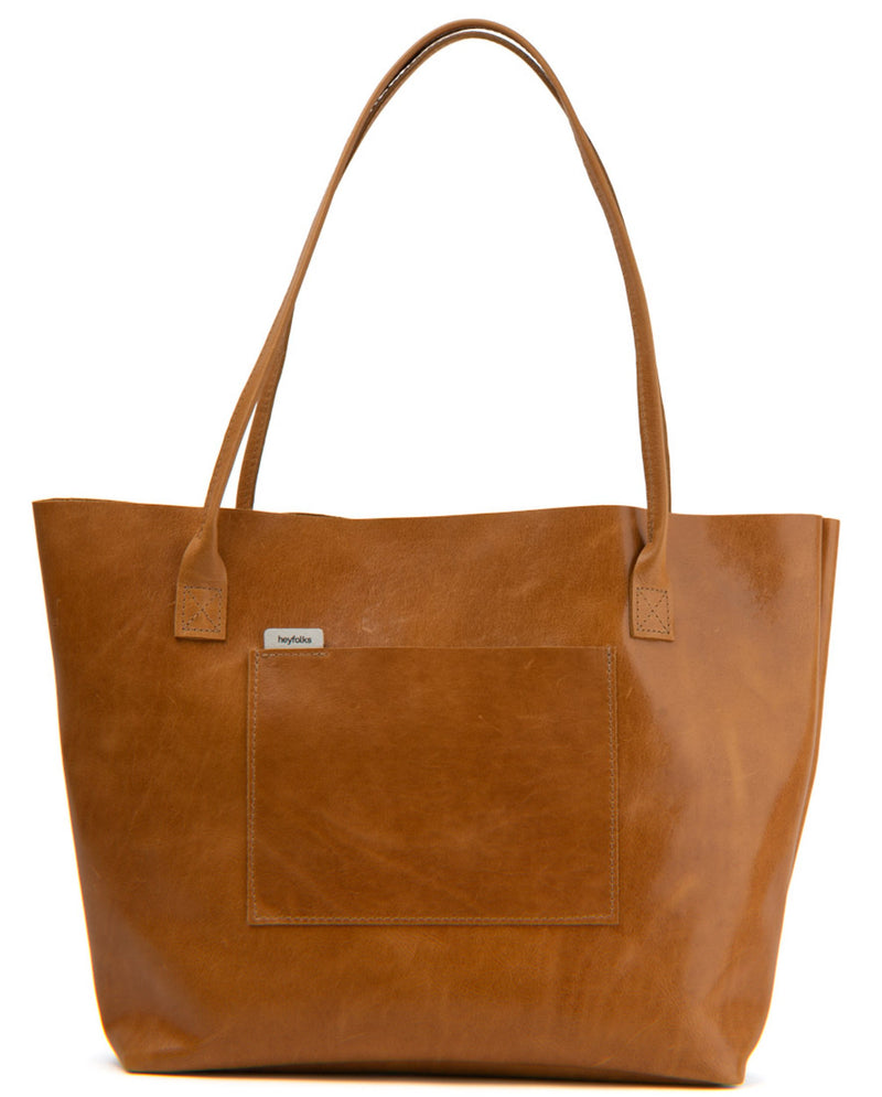 Carrington Tote Caramel Tote Bag heyfolks