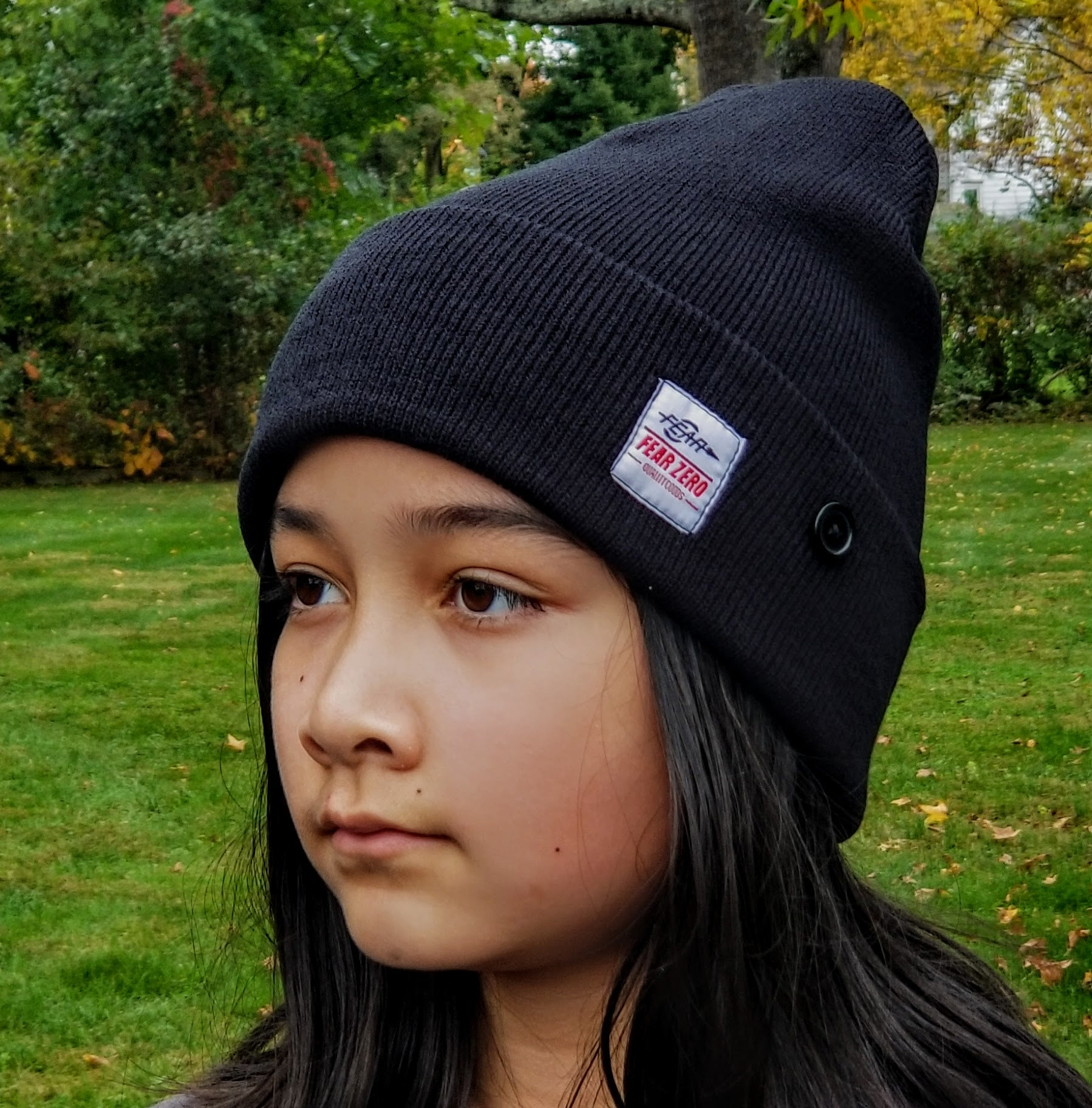 Fear0 Men/Women/Kid's Button Rib Fold Watch Cap Sport Beanie Hat for Skateboarding
