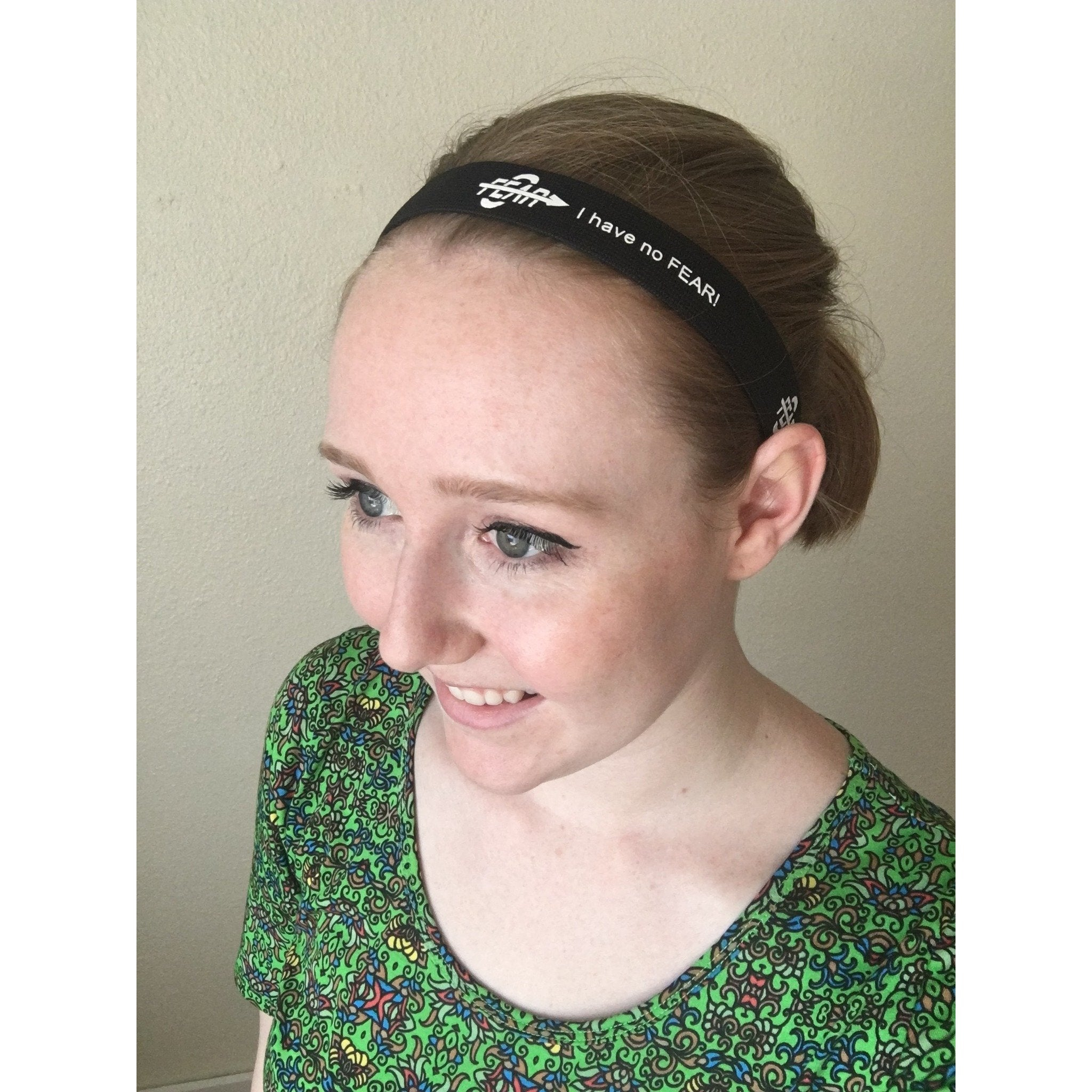 Fear0 Non-Slip Black White Sport Headbands for Women/Kids - Fear0