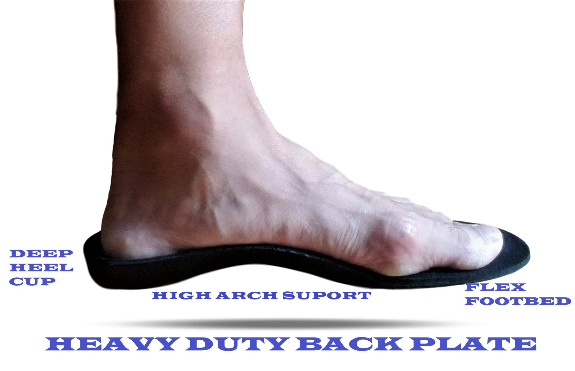 Heavy Duty Arch Support Flat Feet Orthotic Orthopedic Inserts Insoles on Shoes Sneakers Work Boots