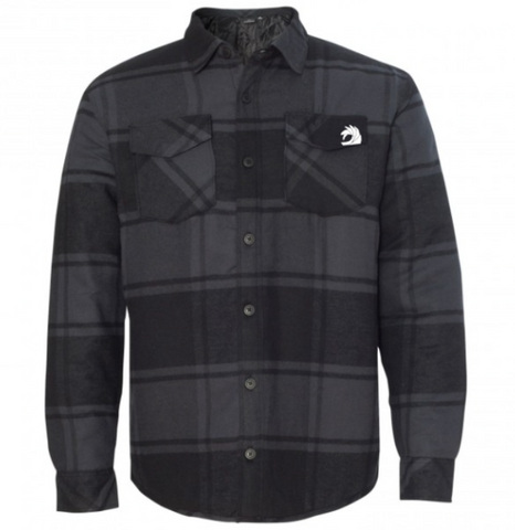 Insulated Gray Plaid Flannel